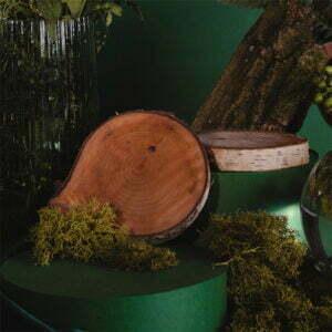 Drewniana podstawka do świecy