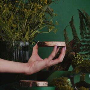 Drewniana podkładka do świeczki