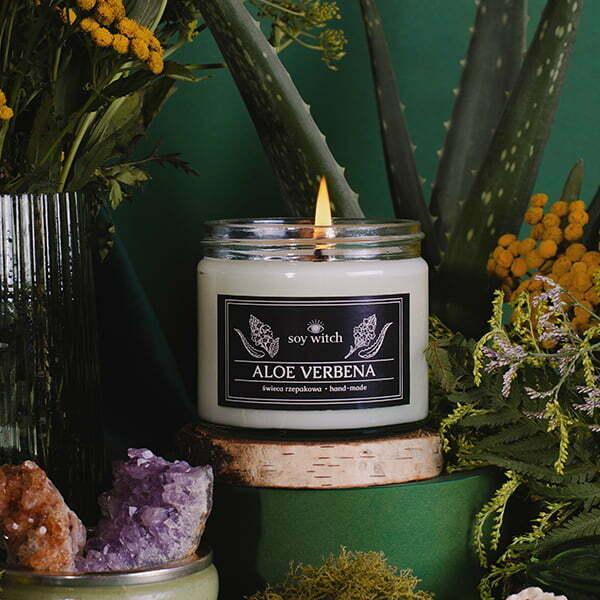 Świeczka rzepakowa o zapachu aloe verbena